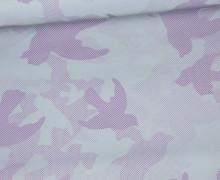 Leichter Regenjacken Stoff - Regencape - Reflektor - Camouflage - Vögel - Lila
