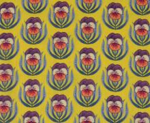 Baumwoll-Viskose - Pretty Pansy - In My Garden - Gelb - Hamburger Liebe