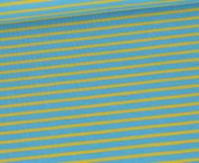 Jersey - Streifen - Bicolor - Pastellblau/Maisgelb
