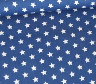 Baumwollstoff - Poplin - Kleine Sterne - Little Stars - Blau