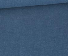 Ramie - Naturfaser - Uni - Taubenblau