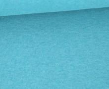 Organic Cotton Interlock Baumwolljersey - Uni - Cyanblau Melange