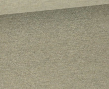 Organic Cotton Interlock Baumwolljersey - Uni - Beigegrün Melange