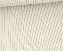 Hipster Bündchen - Rippen - Uni - Schlauchware - Sand Melange