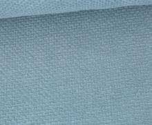 Weicher Waffel Frottee - Baumwolle - Uni - Taubenblau