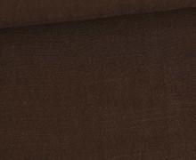 Viskose Leinen - Leinenstoff - Uni - Schokoladenbraun