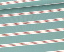 Jersey - Streifen - Stripes - Lichtgrün