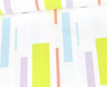 Canvas - Baumwolle - Muster - Bunte Rechtecke - Tillisy - Weiß