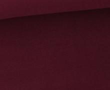 Soft Brush Jersey - Weich - Uni - Bordeaux