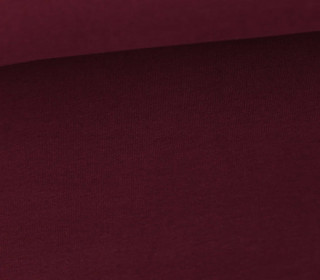 Soft Brush Jersey - Weich - Uni - Bordeaux