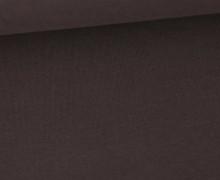 Soft Brush Jersey - Weich - Uni - Dunkelbraun