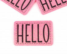 1 XXL GLITZERLABEL - Pink - HELLO