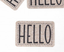 1 XXL GLITZERLABEL - Bronze - HELLO