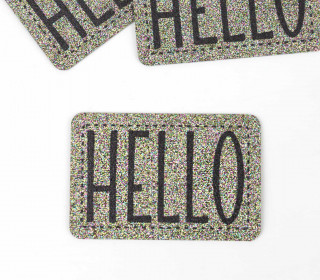 1 XXL GLITZERLABEL – Multicolor – HELLO