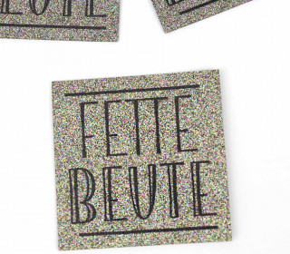 1 XXL GLITZERLABEL - Multicolor - Fette Beute