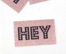 1 XXL GLITZERLABEL - Rosé - HEY