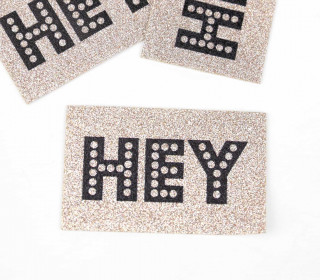1 XXL GLITZERLABEL - Bronze - HEY