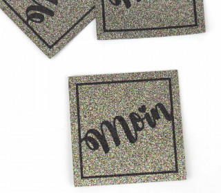 1 XXL GLITZERLABEL - Multicolor - Moin