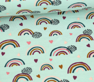 Jersey - Cute Rainbows - Mint