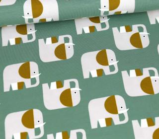 Jersey - Elefanten - Lichtgrün