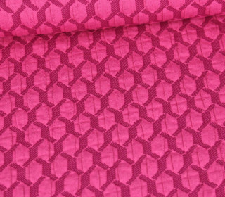 Bio-Elastic Minijacquard Jersey - 3D - Honeycomp - Life Loves You - Hamburger Liebe - Pink
