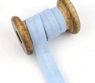 1 Bund Schrägband - 3 Meter - Zugeschnitten - 20mm - Hellblau
