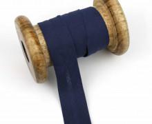 1 Bund Schrägband - 3 Meter - Zugeschnitten - 20mm - Stahlblau
