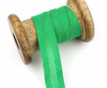 1 Bund Schrägband - 3 Meter - Zugeschnitten - 20mm - Grasgrün