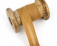 1 Bund Schrägband - 3 Meter - Zugeschnitten - 20mm - Hellbraun