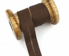 1 Bund Schrägband - 3 Meter - Zugeschnitten - 20mm - Dunkelbraun