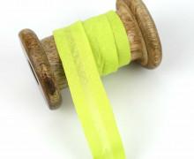 1 Bund Schrägband - 3 Meter - Zugeschnitten - 20mm - Gelbgrün