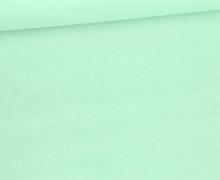 Baumwolle – Webware – Uni – 145cm – Weißgrün