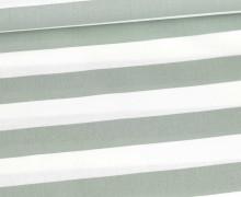 Baumwollstoff - Stripe - Poppy - Lichtgrün Hell/Weiß