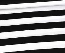 Baumwollstoff - Stripe - Poppy - Schwarz/Weiß
