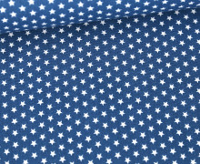 Baumwolle - Webware - Graphic Stars - Poppy - Jeansblau/Weiß