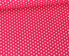 Baumwolle - Webware - Graphic Stars - Poppy - Pink/Weiß