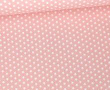 Baumwolle - Webware - Graphic Stars - Poppy - Blassrosa/Weiß