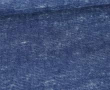 Baumwoll-Mischgewebe - Jeansoptik - Washed Look - Jeansblau Dunkel