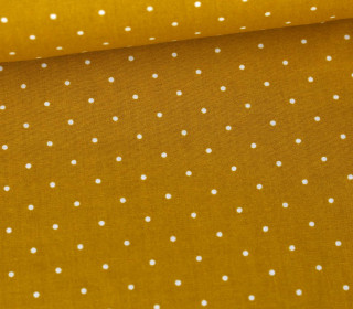Baumwolle - Webware - A Lot Of Dots - Senfgelb