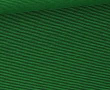 Jersey - Fine Stripes - Grasgrün/Schwarzgrün