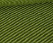 Jersey - Fine Stripes - Gelbgrün/Tannengrün