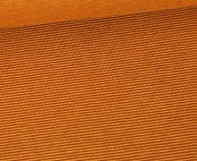Jersey - Fine Stripes - Senfgelb/Rostorange