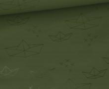 Leichter Regenjacken Stoff - Regencape - Papierschiffchen - Khakigrün