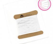 Mini Behelfsmasken Set zum selber Nähen - 1m leichte Webware - 4,5m Gummiband 0,5cm - Weiß