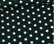 Baumwolle - Webware - Poplin - Kleine Sterne - Little Stars - Tannengrün