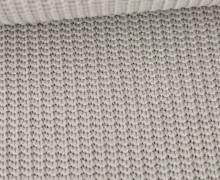 Weicher Seemanns Strick - Strickstoff - Baumwollmischgewebe - Uni - Hellgrau