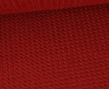 Weicher Seemanns Strick - Strickstoff - Baumwollmischgewebe - Uni - Karallenrot