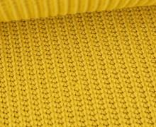 Weicher Seemanns Strick - Strickstoff - Baumwollmischgewebe - Uni - Maisgelb