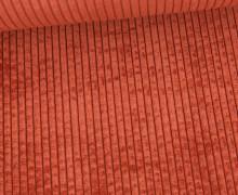 Cord - Breitcord - Weich - Uni - Orange Dunkel
