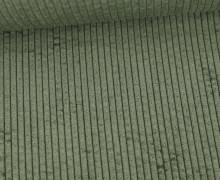 Cord - Breitcord - Weich - Uni - Moosgrün